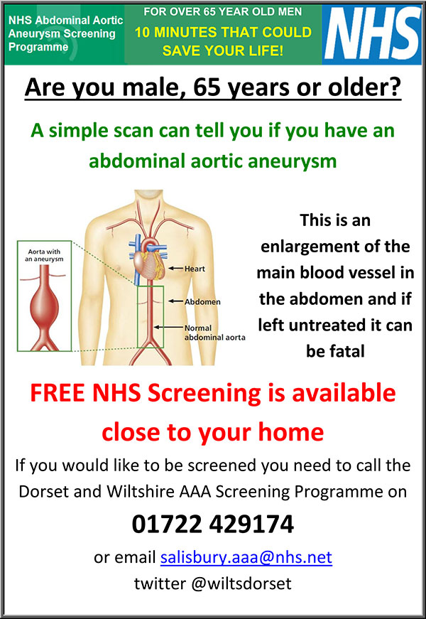 Are you male, 65 years or older? A simple scan can tell you if you have an abdominal aortic aneurysm